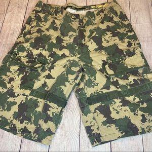 Vintage Marithe Francois Girbaud Camo Shorts Sz 38
